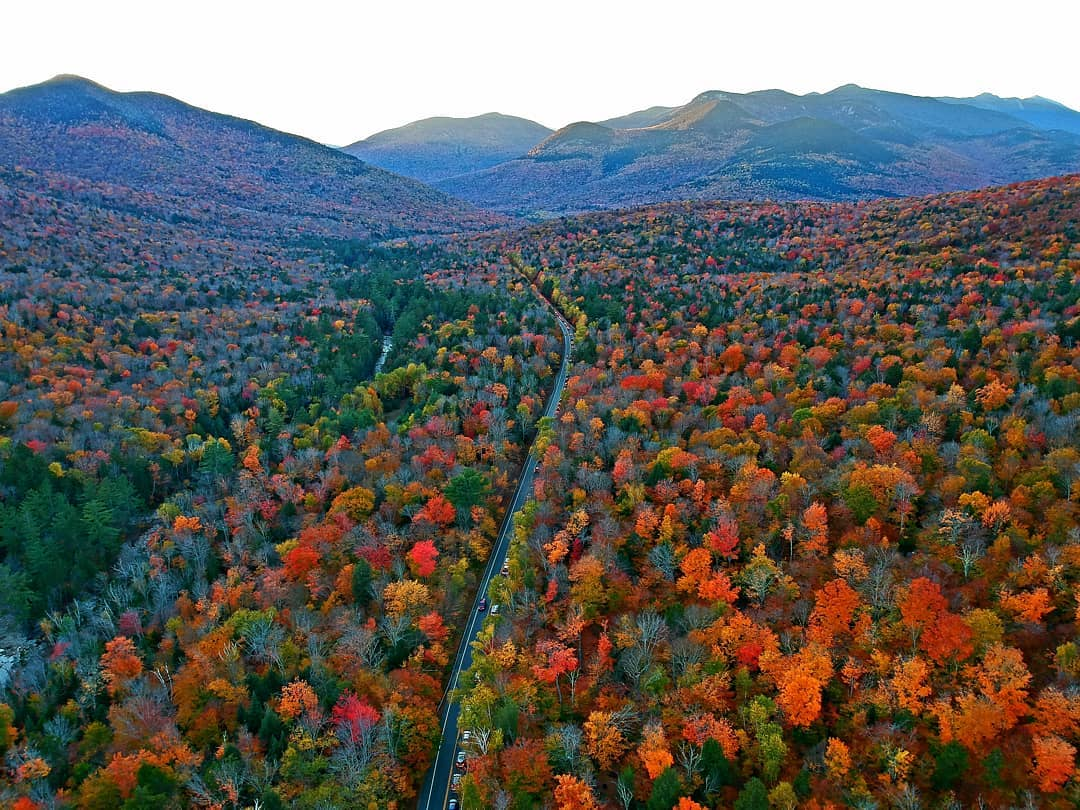 Photo of the fall colors in the White Mountains, How to Play the White Mountains 100 Mile Challenge